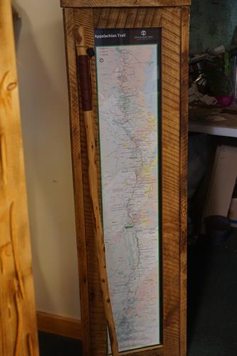 Appalachian Trail Map & Hiking Stick