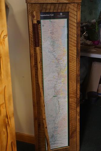 Appalachian Trail Map & Hiking Stick