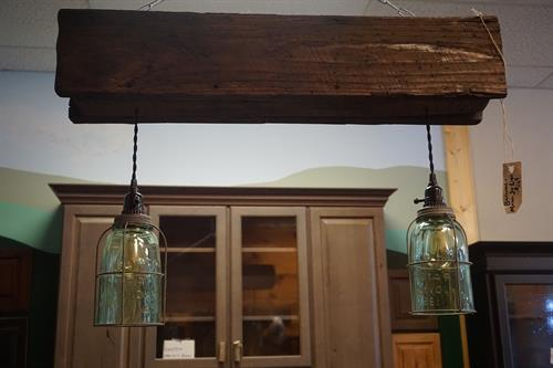 Rustic Barnwood Caged MasonJar Light