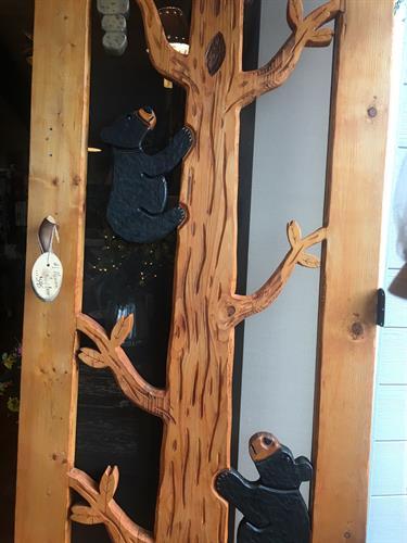 Custom Wood-Carved Screen Doors