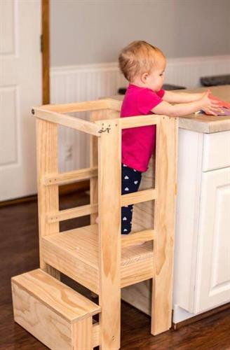 Our tot and toddler tower grows with your child and helps them reach new heights.
