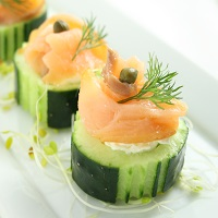 Salmon in a cucumber round