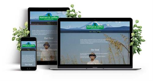 Custom Sacramento web design responsive single-page website for a local Sacramento charity.