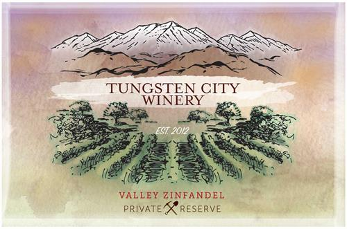 Custom logo made specifically for Tungsten City Winery in the Bishop area of central California.
