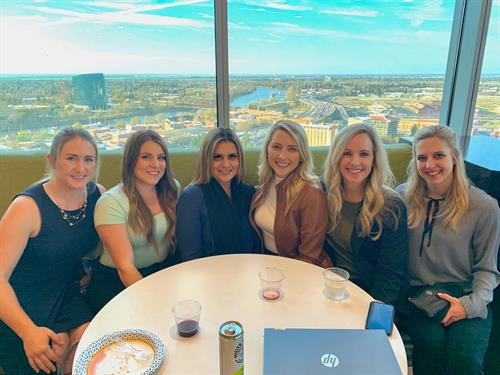 Team bonding during the CBRE Women of Influence panel!