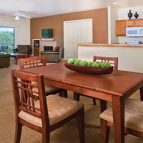 Two-Bedroom Dining Area, Kitchen and Living Area