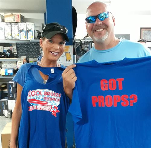 We love it when our customers walk around in our Got Props? T-shirts!