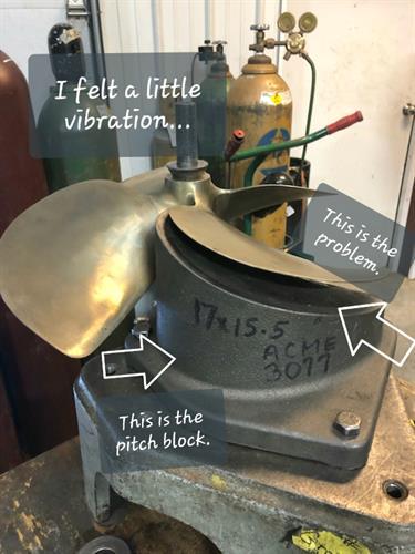Bring your prop to us for proper propeller repair.