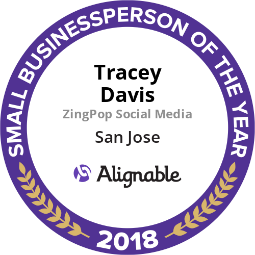 I was selected as Alignable's Small Businessperson of the Year for San Jose in 2018