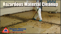 We are trained in Hazardous Material Cleanup