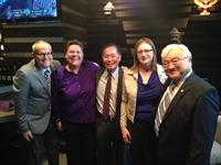 Visiting with Representative Mike Honda at an event in San Francisco