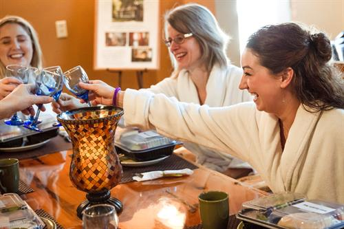 We specialize in accommodating large groups for a special day at the spa!