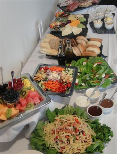 Cold deli catered lunch display
