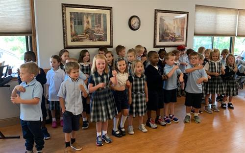 St. Croix Catholic students and their families performed 6,000 acts of service during its 2019 Service Marathon.
