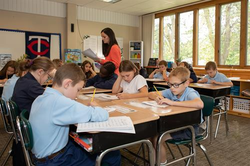 St. Croix Catholic offers a traditional classroom setting and a respectful learning environment.