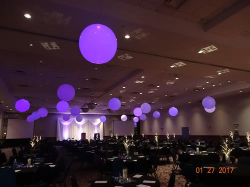 Giant balloons with lights inside