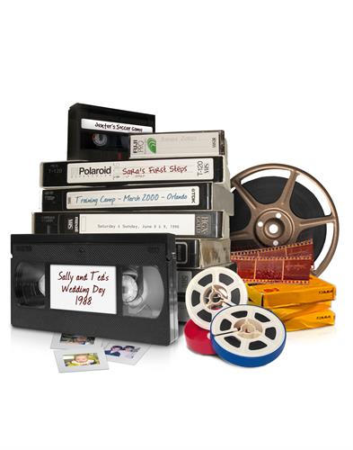 Transfer of old media (Videotapes, film reels, slides) to dvd and digital, including an online Family Legacy account