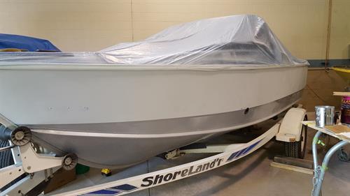 Lund Tyee Boat - Repaint BEFORE