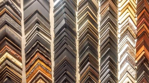 Custom framing. Hundreds of mouldings to choose from.