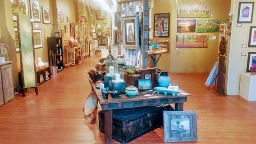Everything from paintings to pottery and jewelry.