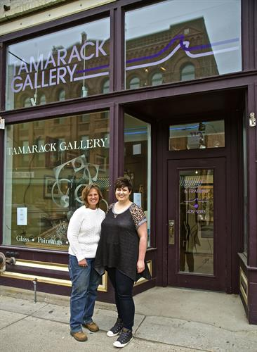 Lill Linder and Megan Henderson Owners of Tamarack Gallery