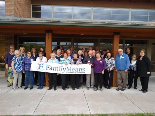 FamilyMeans wonderful volunteers! Over 200 each year!