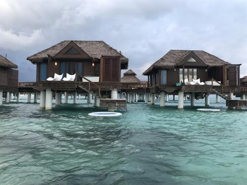Over water bungalows at Sandals, Jamaica