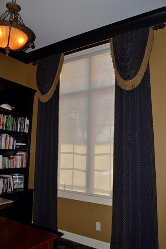 This customer asked for a very formal drapery for their stately library.
