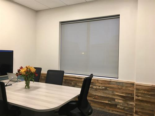Roller Shades in Commercial & Office Spaces are one of our specialties.