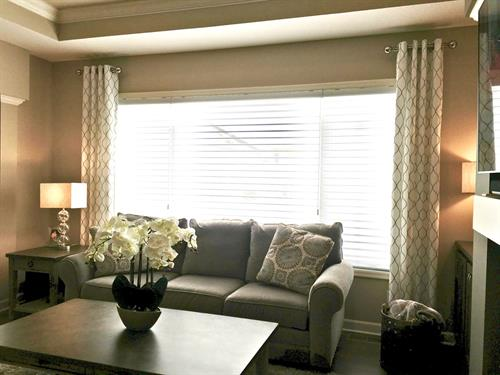 Side Panels are a great way to compete a space and balance a room while adding texture and visual interest.