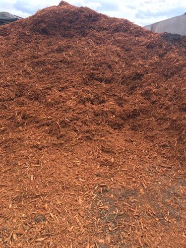 Colored Mulch Options: Cedartone, Dark Brown and Red.