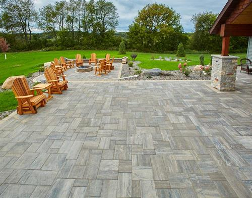 Finished image of County Materials Tranquility pavers.
