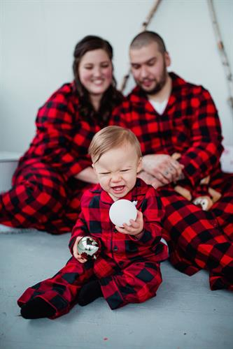 Family holiday pajama session