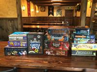 We have demo games at the story to enjoy while you eat