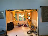 Injection drying a dining room ceiling (avoiding tearout and rebuild)