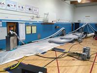 High volume climate control and injection panels on/in a school gym (saved the floor)