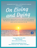 "Interfaith Panel Presentation ""On Living and Dying"" by Bothell United Methodist Church"