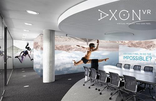 Interior Graphics concept for AxonVR, a hot startup leading revolution in the virtual reality field