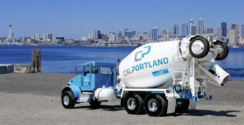 Truck graphics for Cal Portland, a leading manufacturer of cement and concrete