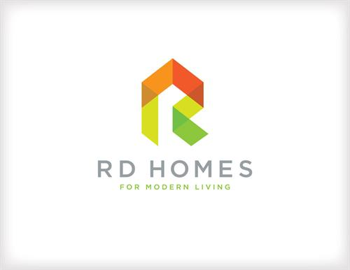 Logo for RD HOMES, a local home builder