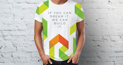 Promotional T-shirt for RD HOMES, a local home builder