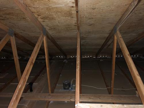 After photo of an attic mold remediation.