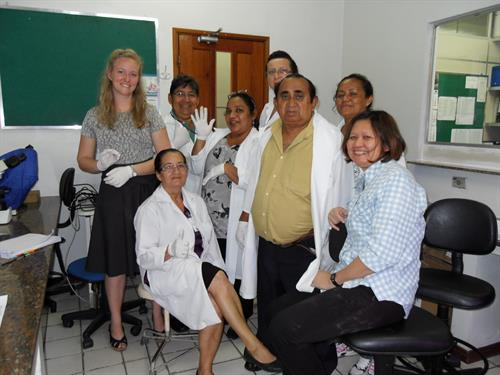 Interpreting for  the Malaria Slide Reading Course at the Tropical Hospital