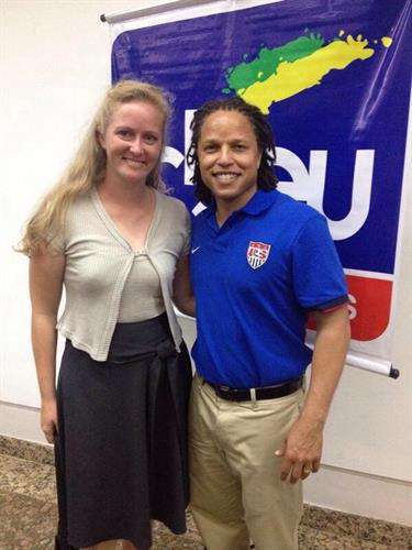 Interpreting for Cobi Jones, Sports Envoy, US Team member for the World Cup