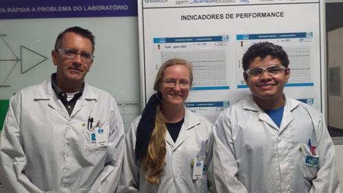 Interpreting at an lenses factory