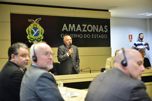Interpreting for the Governor of Amazonas and the committee from the Swedish Legislature