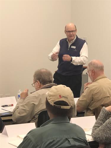 Dwayne Teaching a AAA Retirement Workshop