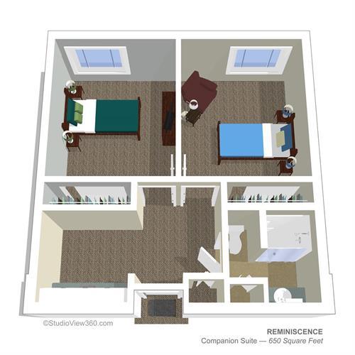 Companion Shared Suite Floorplan