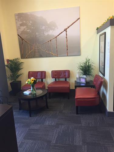 Our lobby.  A comfortable place to wait for your personal wellness coach to come and greet you.