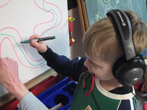 Our Occupational Therapists help children with sensory issues learn calming and self-regulation skills.